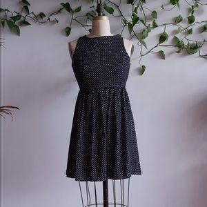 ANN TAYLOR LOFT Black & White Polka Dot Dress